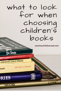 what to look for when choosing books