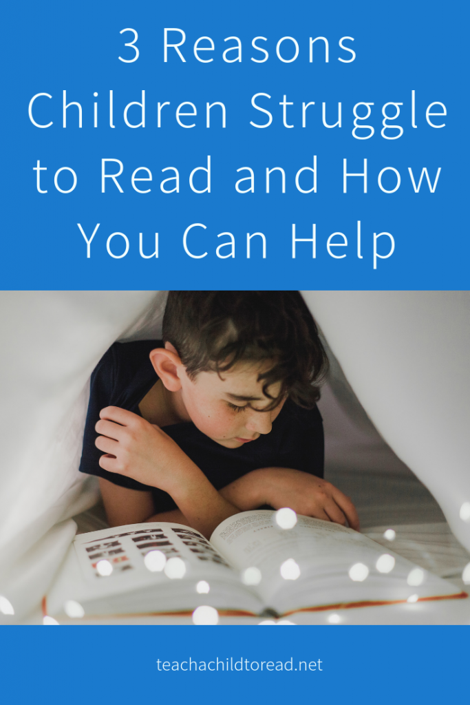3 reasons children struggle to read