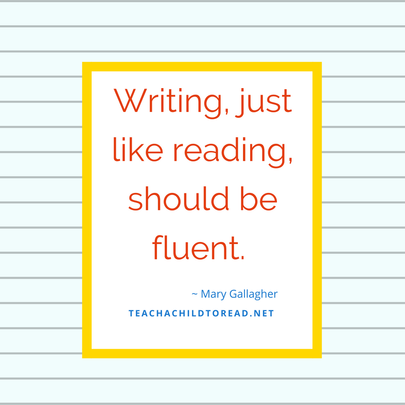 Writing should be fluent